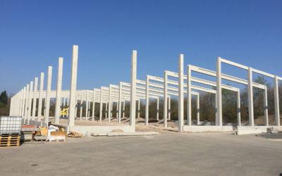 Neue Lagerhalle im Bau
